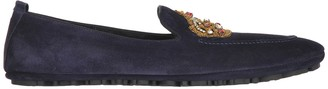 Dolce & Gabbana Crown Embroidered Loafers