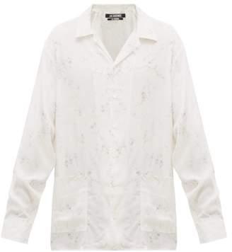 Jacquemus Etienne Rosemary Print Poplin Shirt - Mens - White