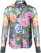 Matthew Williamson Duchess Garden Grey Silk Shirt