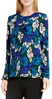 Vince Camuto Women's 'Woodland Floral' Print Ruffle Front Blouse