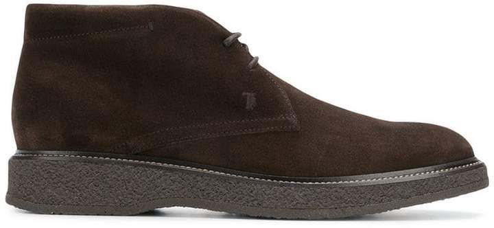 Tod's flat lace-up boots