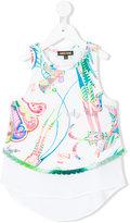 Roberto Cavalli scalloped hem T-shirt - kids - Cotton/Spandex/Elastane/Viscose - 10 yrs