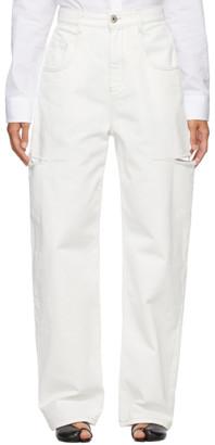 Maison Margiela SSENSE Exclusive White Thigh Slit Jeans