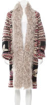 Chanel Paris-Moscou Shearling-Trimmed Cardigan