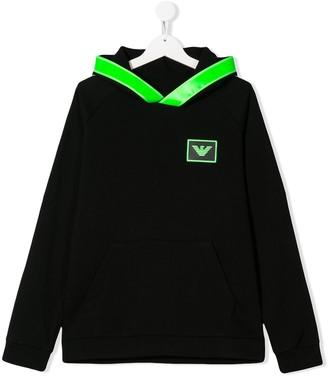 Emporio Armani Kids TEEN hooded sweatshirt