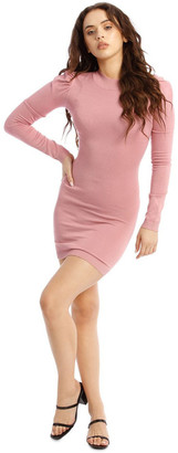 Missguided Knitted Puff Sleeve Mini Dress