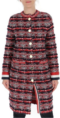 Thom Browne RWB Oversized Tweed Coat