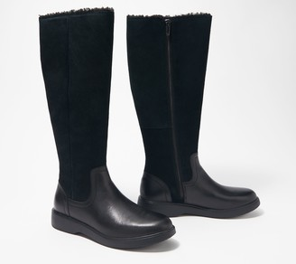 Clarks Leather Tall Shaft Boots - Un Elda Hi