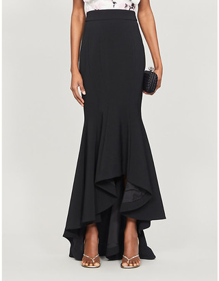 Alexandre Vauthier Flared high-waisted stretch-woven maxi skirt