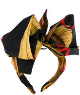 Dolce & Gabbana pasta print head band - women - Silk/Iron - One Size