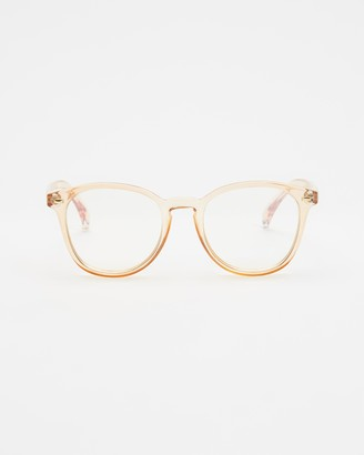 Le Specs Neutrals Blue Light Lenses - Bandwagon Blue Light Glasses - Size One Size at The Iconic