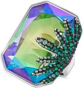 Swarovski Gisele Silver-Tone Prismatic Crystal Statement Ring