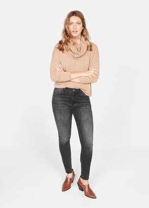 MANGO Slim leopard print jeans