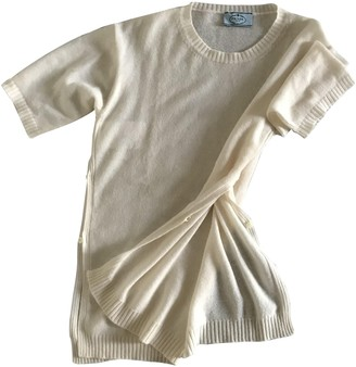 Prada White Cashmere Knitwear