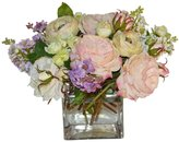The French Bee Flower Mix In A Large Square Vase