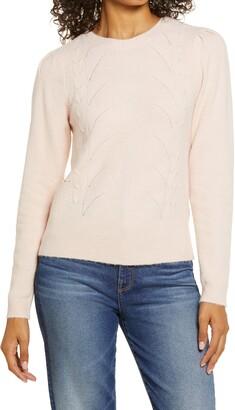 Halogen Stitch Front Sweater