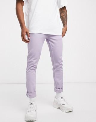 ASOS DESIGN skinny jeans in lilac