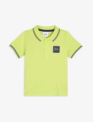 HUGO BOSS Logo cotton polo shirt 3-36 months