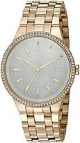 DKNY Women's 'Park Slope' Quartz Stainless Steel Casual Watch, Color:-Toned (Model: NY2580)