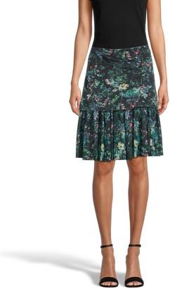 Nicole Miller Moonlit Garden Mini Skirt