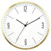 "Threshold Wall Clock Brass 6"""