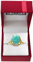 Effy Turquesa 0.15TCW Diamonds, Turquoise and 14K Yellow Gold Ring