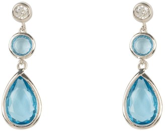 Latelita Tuscany Gemstone Drop Earring Silver Blue Topaz Hydro
