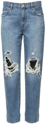 J Brand Tate Mid Rise Boyfriend Denim Jeans