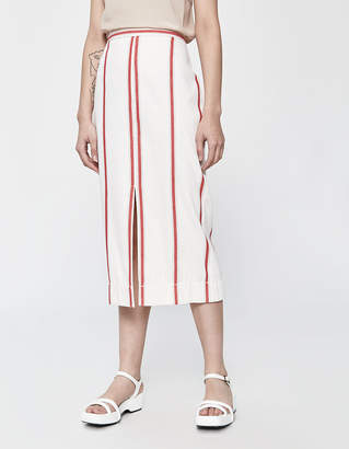 Bassike Striped Split Pencil Skirt