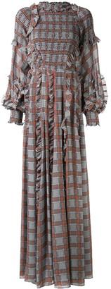 Rachel Gilbert Cordelia plaid print gown