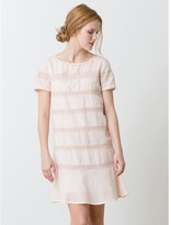 Somewhere Panel dress in cotton crpe with guipure lace, HOGANO