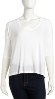 James Perse Ribbed Scoop-Neck Tee