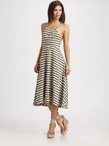 Stretch Tweed Halter Dress