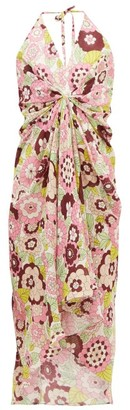 Dodo Bar Or Jennifer Gathered Floral-print Cotton Dress - Pink Print
