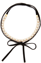 Kate Spade Girly Pearly Choker Necklace