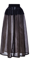 J. Mendel Organza Pleated Full Skirt