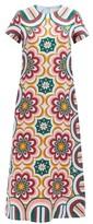 Thumbnail for your product : La DoubleJ Swing Ciccio-print Silk Maxi Dress - Orange Multi