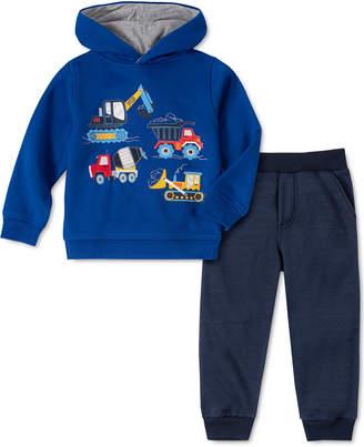 Kids Headquarters Little Boys 2-Pc. Trucks Fleece Hoodie & Sweatpants Set