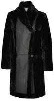 Max Mara Shearling Coat - Black