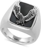 Effy EFFYandreg; Men's Onyx (16-3/4 x 13-1/2mm) Eagle Ring in Sterling Silver