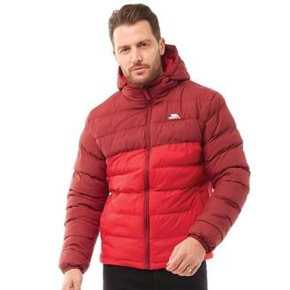 Trespass Mens Oskar Padded Hooded Jacket Burgundy/Red