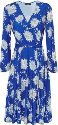 Wallis Blue Floral Jersey Wrap Dress