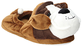 John Lewis Buster the Boxer Children's Slippers, Brown/White