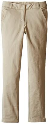 Nautica Straight Leg Stretch Twill Pants (Big Kids) (Su Khaki) Girl's Casual Pants