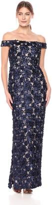 Aidan Mattox Aidan Women's Off The Shoulder Long Dress