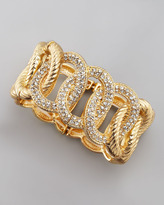 Cara Accessories Stretchy Crystal Link Bracelet