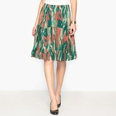Anne Weyburn Printed Crinkled Crpe Skirt