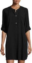 Allen Allen 3/-Sleeve Shirtdress, Black