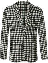 Paul Smith check and houndstooth fitted blazer
