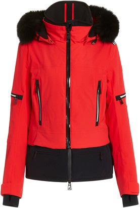 Toni Sailer Women's Penelope Fur-Trimmed Nylon Ski Jacket - Red - Moda Operandi